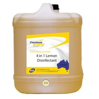 Custom Chemicals 4 in 1 Lemon Disinfectant 20L
