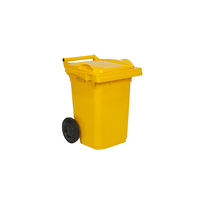 60L Yellow Wheelie Bin