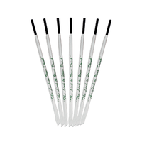 Castaway Black Plastic Straws Individually Wrapped 3000/ctn