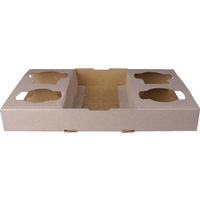 Castaway 4 Cup Cardboard Carry Tray to suit 8-24oz Cups 100/ctn
