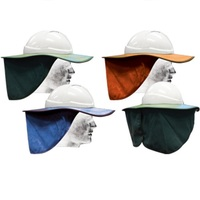 Hard Hat Brim with Neck Flap- Cloth