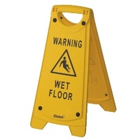 Oates Non Slip A Frame Caution Wet Floor Sign -Yellow