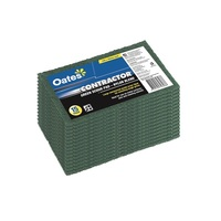 Oates Contractor Green Scour Pad- Heavy Duty 23x15cm 15pack