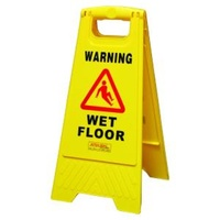 A Frame Wet Floor Sign Yellow