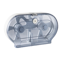 Double Jumbo Toilet Roll Dispenser Transparent
