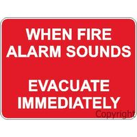 When Fire Alarm Sounds