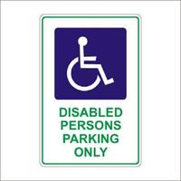 Disabled Persons Parking Only