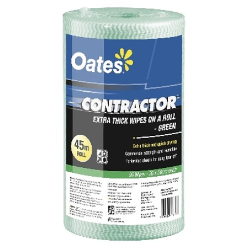 Oates Contractor Extra Thick Wipe Roll Green